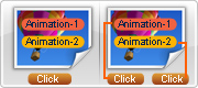 Modes de présentation particuliers: Une animation un chapitre et un glisser un chapitre