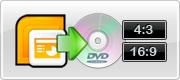 Sortie PowerPoint à la norme DVD comme Aspect Ratio diversifiée spécifique